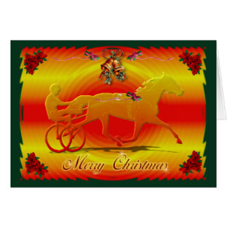 Red Christmas Trotter Card