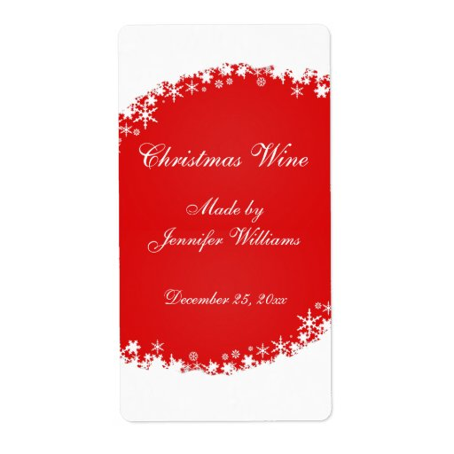 Christmas Wine Labels,...