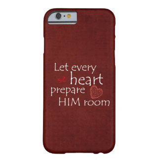 Red Christmas with Quote Barely There iPhone 6 Case