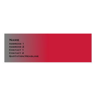 Red Chrome skinny Double-Sided Mini Business Cards (Pack Of 20)
