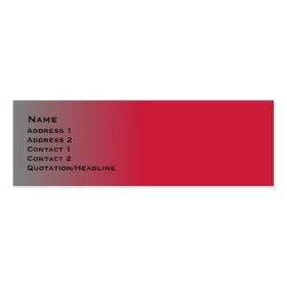 Red Chrome skinny Mini Business Card