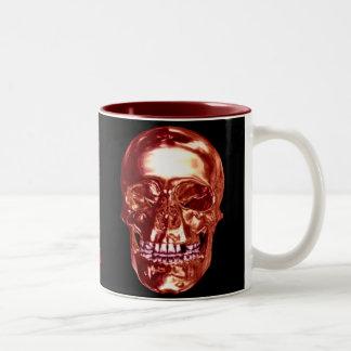 Red Chrome Skull Mug