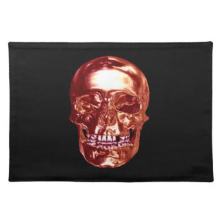 Red Chrome Skull Placemat