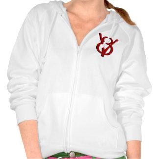 Red Chrome V8 Logo Hoodie
