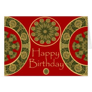 Red Chrysanthemum Brthday Card Greeting Card