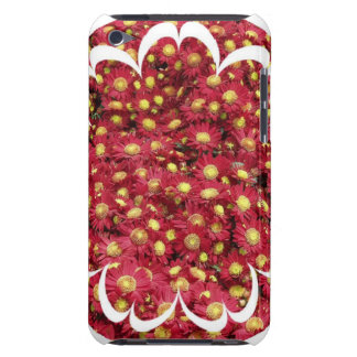 Red Chrysanthemum iTouch Case Barely There iPod Cases