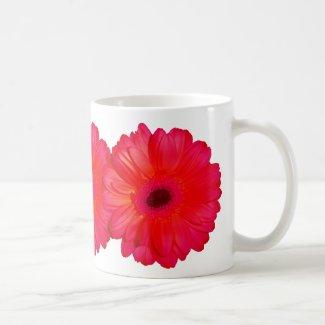 Red chrysanthemum mug