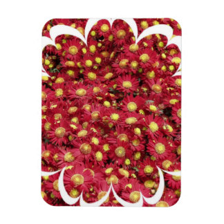 Red Chrysanthemum Premium Magnet Rectangle Magnets