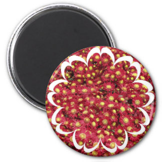 Red Chrysanthemums Magnet Magnets