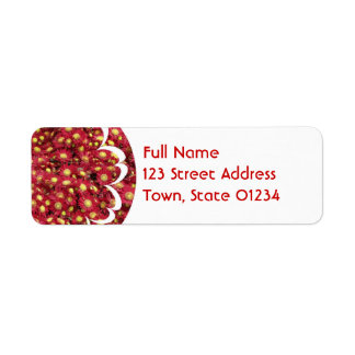 Red Chrysanthemums Mailing Label