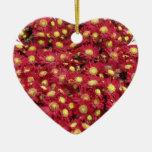 Red Chrysanthemums Ornament
