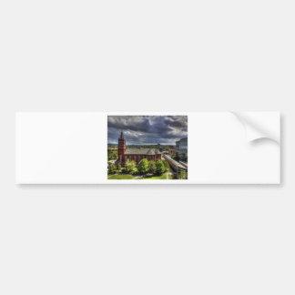 Red Church Bumper Sticker