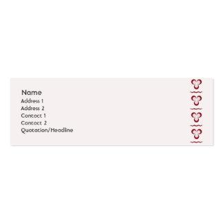 Red Cintemani - Skinny Business Card Template