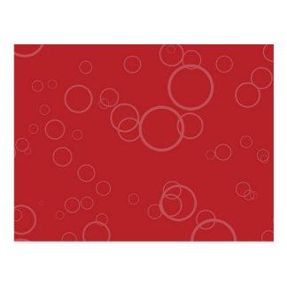 Red Circle Bubbles Postcard