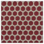 Red Circle Fabric