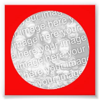 Red Circle Frame Photo