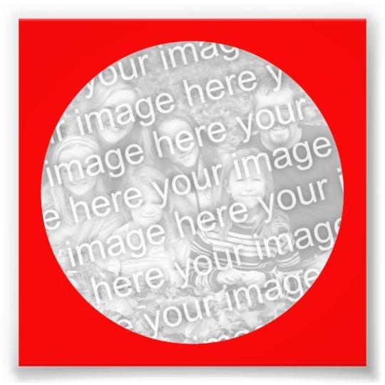 Red Circle Frame Photo Zazzle Com