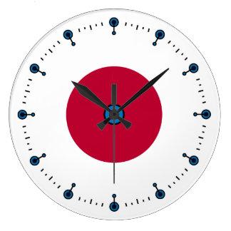 Red Circle Mod Wall Clock