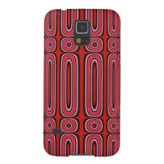 Red Circle Pattern Case For Galaxy S5