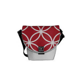 Red Circle Pattern Courier Bag