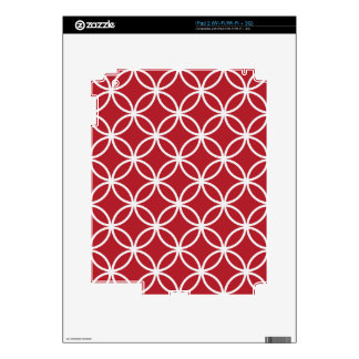 Red Circle Pattern Decals For The iPad 2