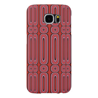 Red circle pattern samsung galaxy s6 cases
