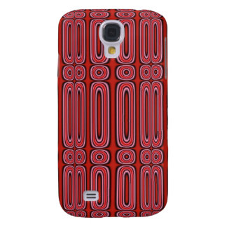 Red Circle Pern Galaxy S4 Cases