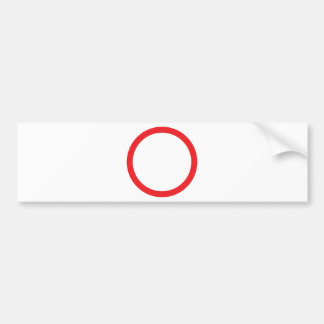 red circle ring bumper sticker