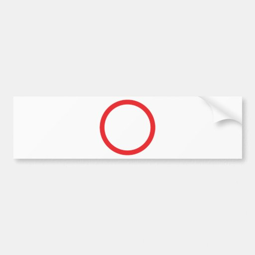 red circle ring bumper stickers