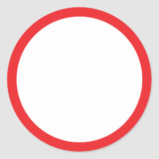 red circle ring classic round sticker