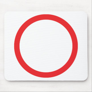 red circle ring mouse mats