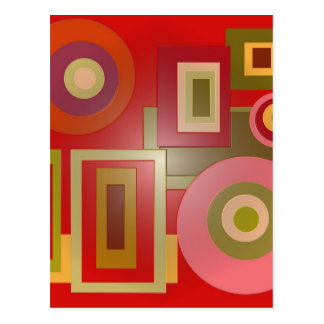 red circles and squares postcard