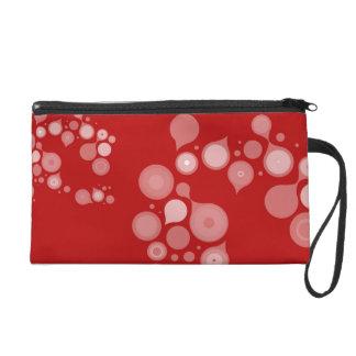 Red Circles Bagettes Bag Wristlet