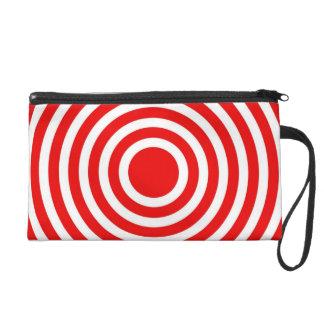 Red Circles Bagettes Bag Wristlets