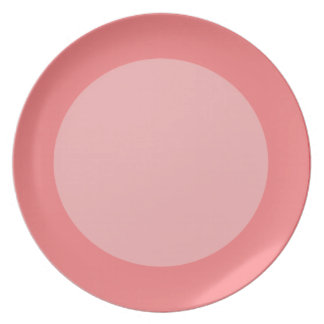 Red Circles Dinner Plate