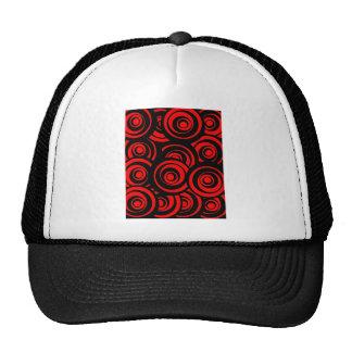 Red Circles Trucker Hats