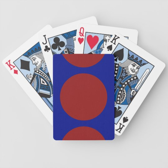 Red Circles on Blue Bicycle Playing Cards