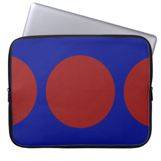 Red Circles on Blue Computer Sleeve