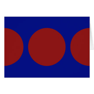 Red Circles on Blue Greeting Card