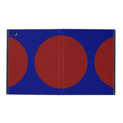 Red Circles on Blue iPad Covers