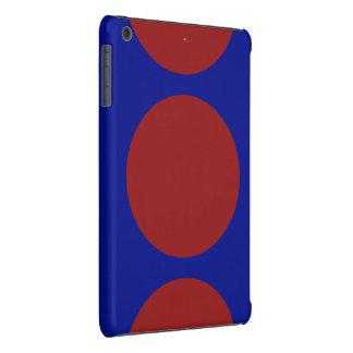 Red Circles on Blue iPad Mini Retina Case