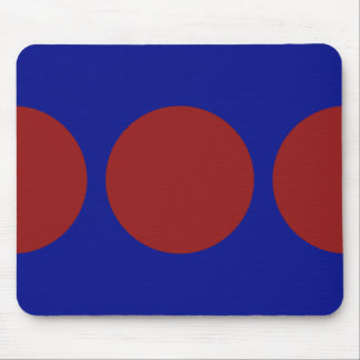 Red Circles on Blue Mouse Pad
