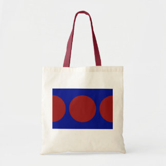 Red Circles on Blue Tote Bag