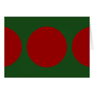 Red Circles on Green Card