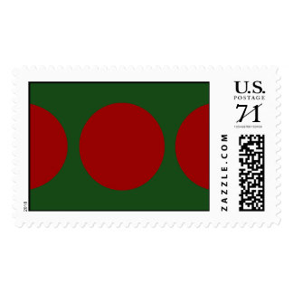 Red Circles on Green – Large Postage