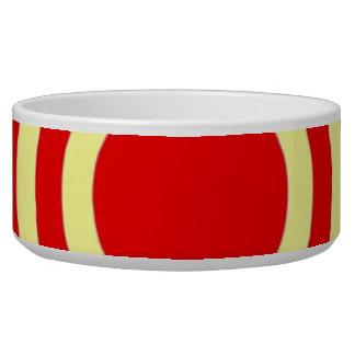 Red Circles Pet Bowl