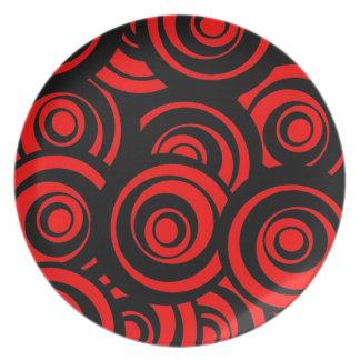 Red Circles Plates