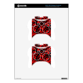 Red Circles Xbox 360 Controller Decal