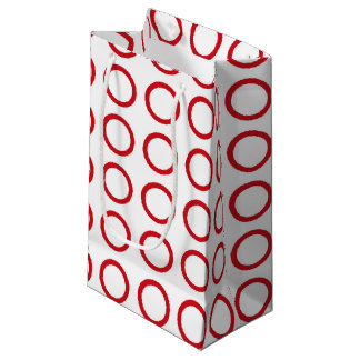 Red Circles Small Gift Bag