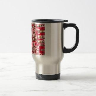 Red Circuit Board Pattern Travel Mug